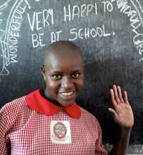 Schoolgirl at our Uganda school
