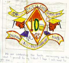A student's artwork for the 10th Anniversary!