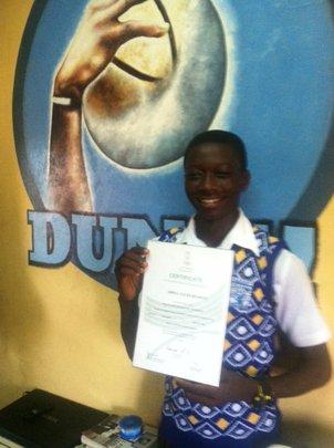 Salim and his FIBA certificate