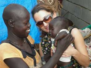 Helping a child suffering from malnutrition