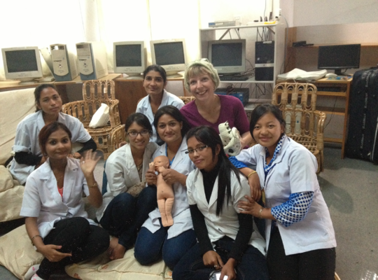 Some of the midwives with Instructor, Lynn Arnold