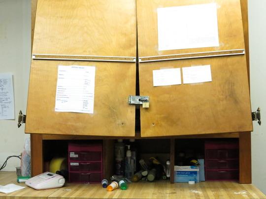 vet tech room after the break in