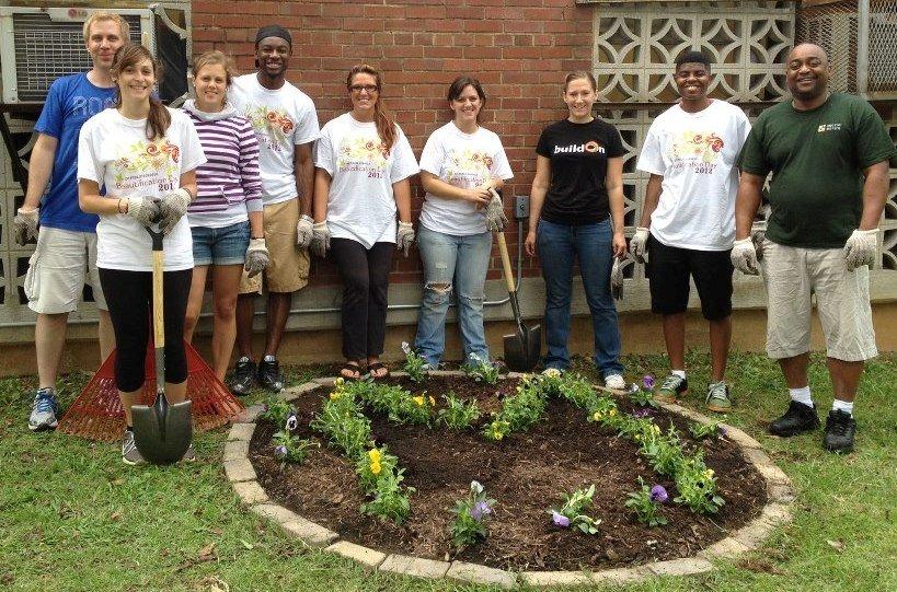 Members volunteer at DCPS Beautification Day