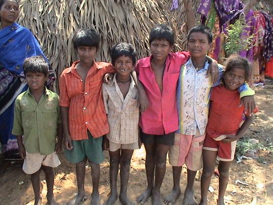 More village kids.