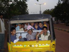 Rickshaw ride home