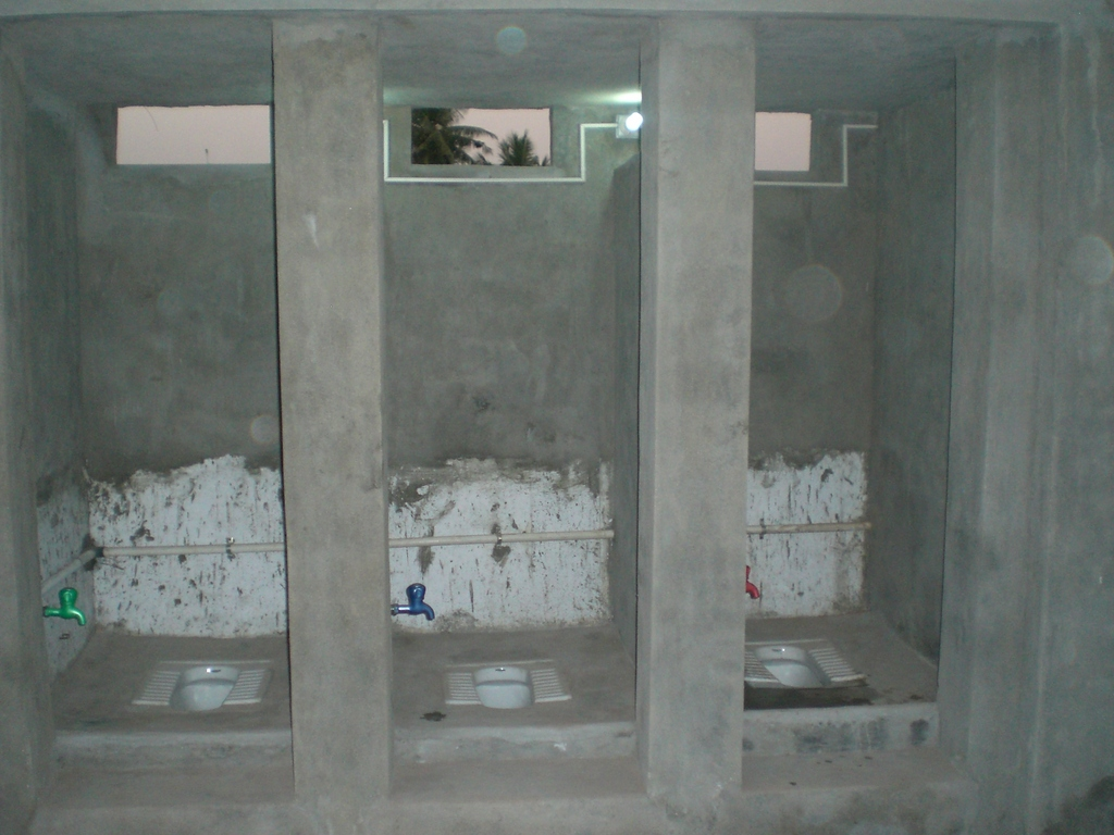 Photo - the bathrooms that were built with GlobalGiving donation
