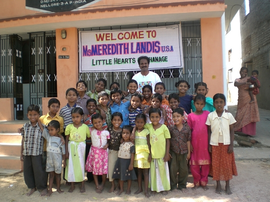 Photo - CP Kumar and the children of his orphanage
