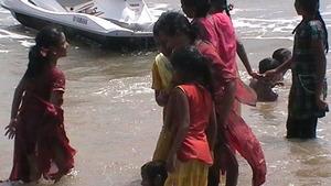 Girls turn to swim!