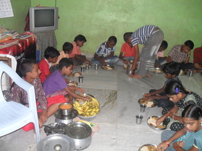 Meal time at Little Hearts Orphanage