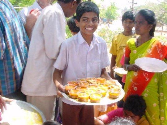Children serving