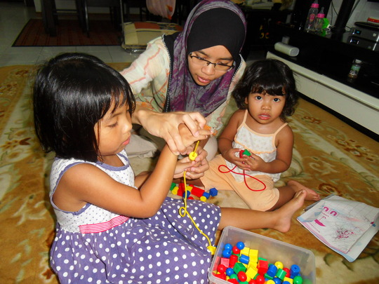 Learning together with my family