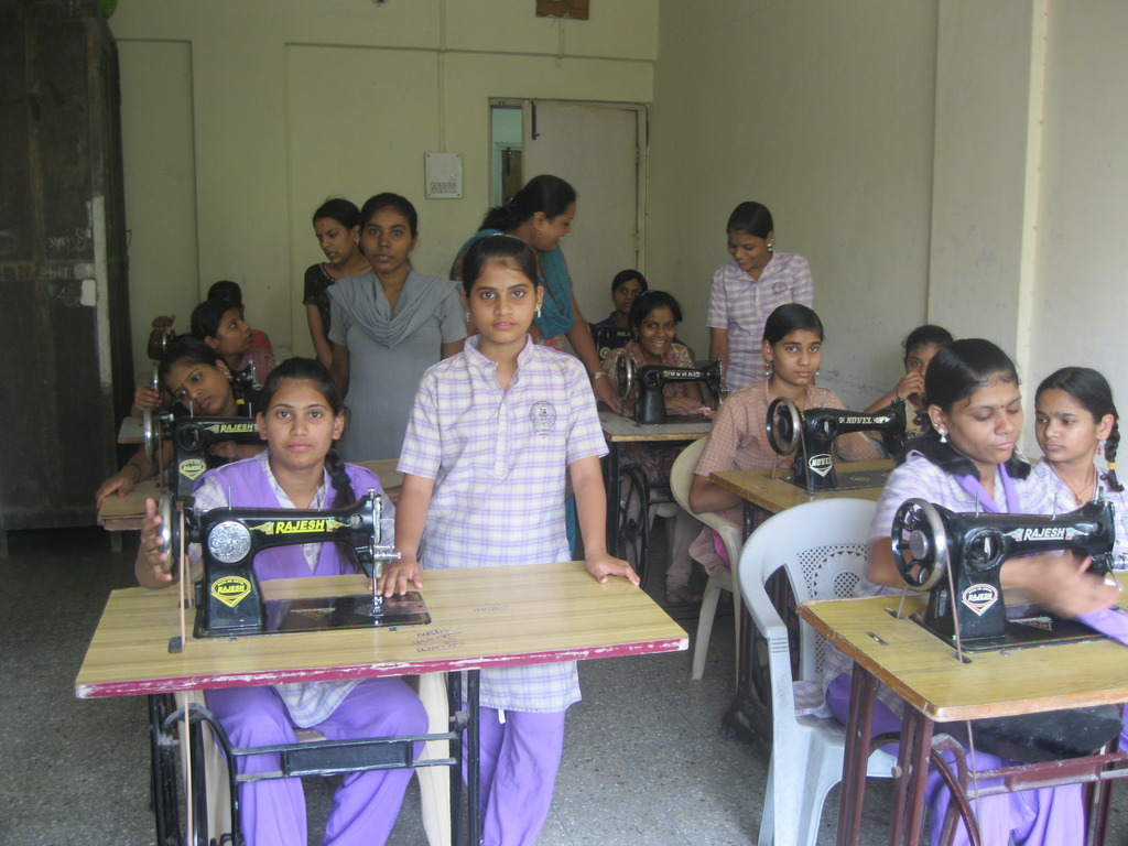 Tailoring class for Girls.