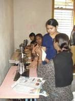 tailoring class at Bhivandi