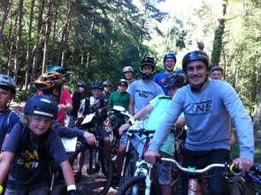 Young people cycling at AT