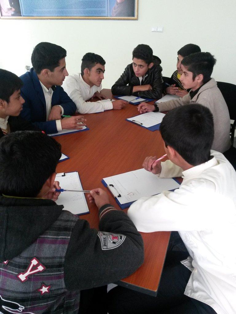 Boys in an AIL class
