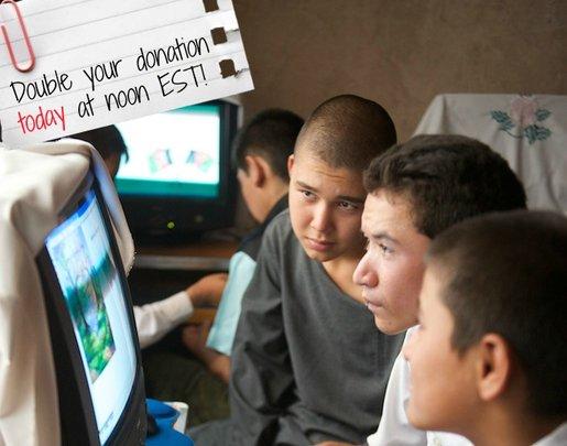Boys in a computer class