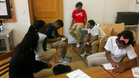 students at Coolidge studying product innovation