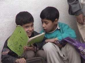 Students Share A Book