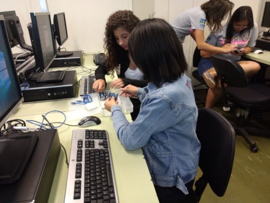 Digital skills courses at the POETA Center, Brazil
