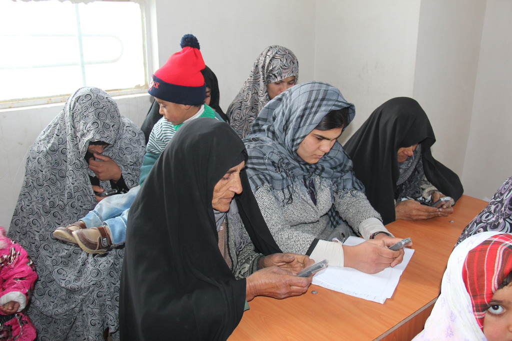 Women in an AIL Mobile Literacy Course