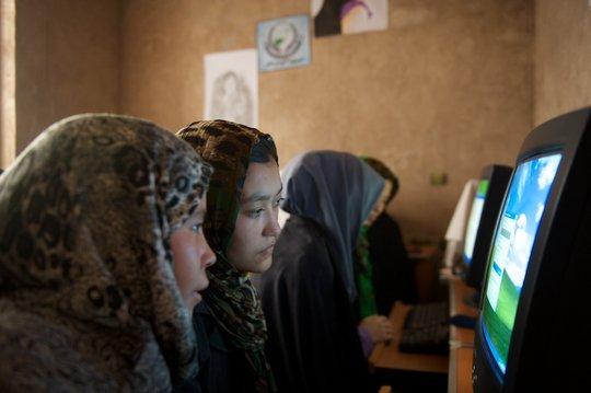 Women in an AIL Computer Class