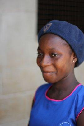 One of girls receiving a DA scholarship
