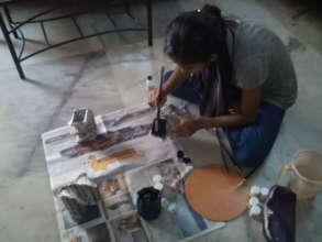 Anitha at work...2