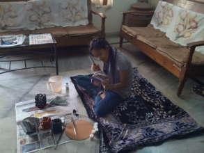 Anitha at work...3