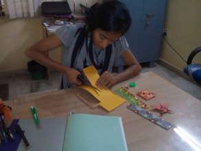 Anitha at work...4