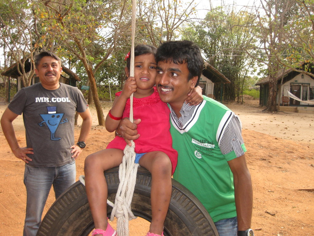 Prasanna with our youngest girl child