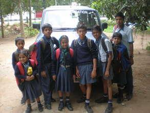 Children off to school (Bangalore)