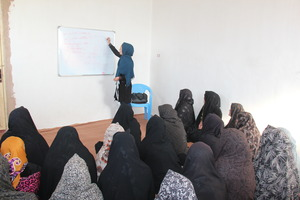 AIL Sewing Teacher with her Students