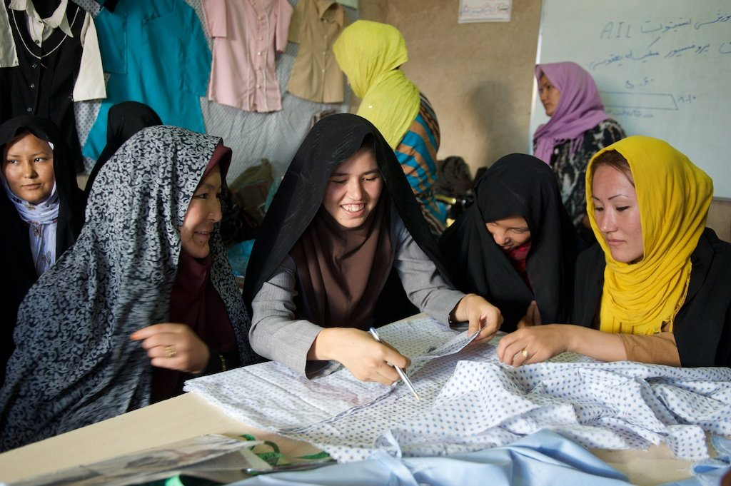 Women in an AIL Sewing Course