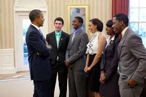Boys & Girls Club youth meeting President Obama