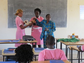 Midwifery students in training in Maridi
