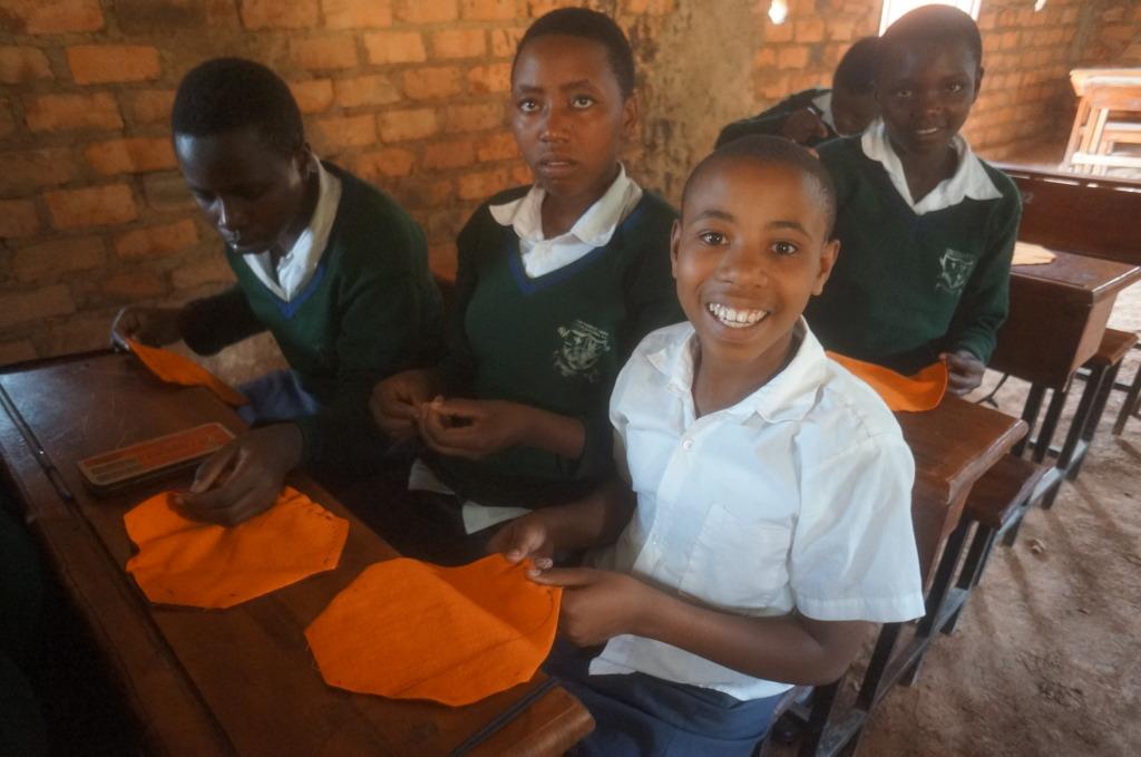 Girls at Rafiki Thabo training in Kabale, Uganda