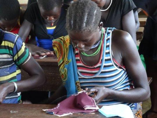 Sewing the DfG Kit in Karamoja