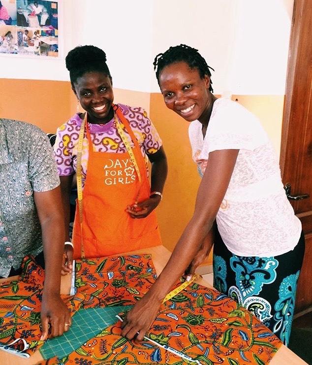 Bernice, of DfG Ghana, and Diana, of DfG Uganda