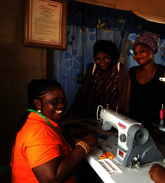Ladies of the ASIGE Enterprise in Bolgatanga