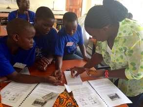 """Julie teaches girls at Peace Corps """"Girl Tech"""""""