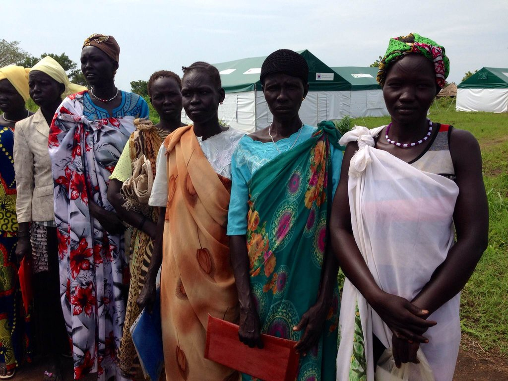 South Sudanese Ladies awaiting their kits