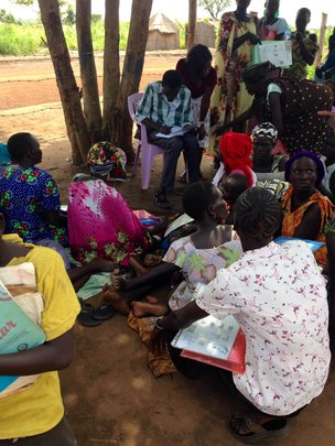South Sudanese refugees register to get their kits