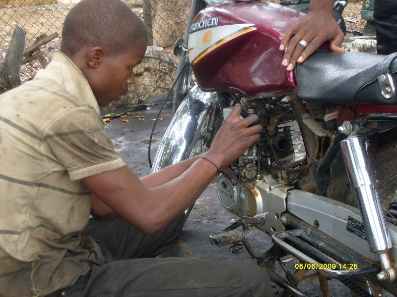 Create 5 jobs with the AH Motorcycle Repair Shop