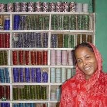 Manavi member in her bangle store