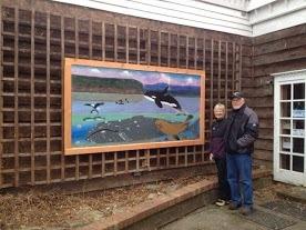 Board members Dave & Karen Anderson & Dave's mural