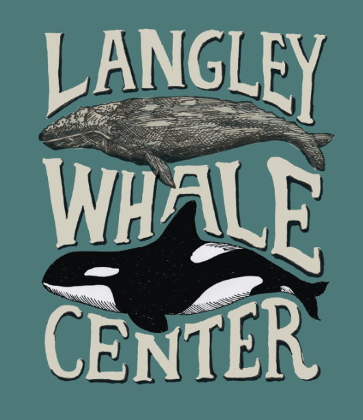 Langley Whale Center sign and logo