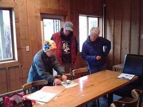 Howard Garrett & board members planning the Center