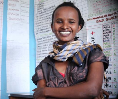 Aynalem, Heath Extension Worker in Rural Ethiopia
