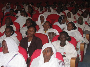 Attendees at the Women's Association meeting in Tigray