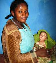 Ethiopian mother with newborn baby